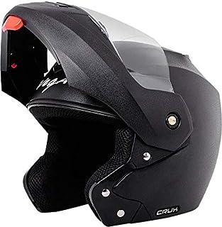 Vega Crux Men's Flip-up Helmet (Black, Large)