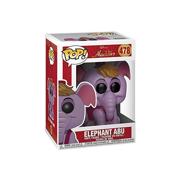 Funko- Pop Vinyl: Disney: Aladdin: Elephant Abu Elefante Figura de vinilo - coleccionable, Multicolor, talla única… 2