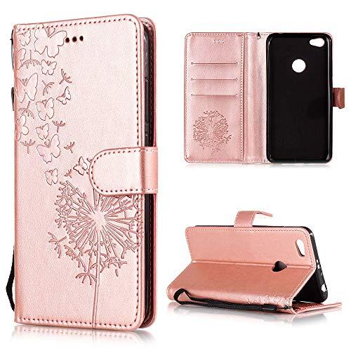 XCYYOO Handyhülle Kompatibel mit Xiaomi Redmi Note 5A Tasche Leder Flip Hülle PU Leder Hülle[Spitzen Blumenmuster] Brieftasche Etui Schutzhülle mit Stand Halter Falten