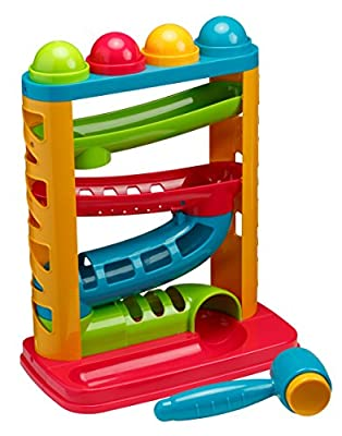 Playkidz Super Durable Pound A Ball Great Fun for Toddlers - STEM Developmental Educational Toys - Great Birthday Gift (3004)