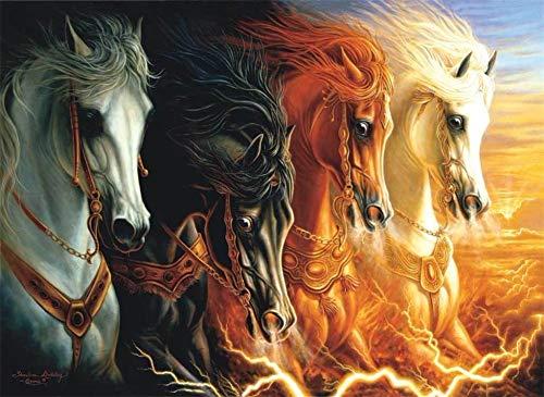 N / A 5D DIY diamantschilderij complete kruissteek set galopperen paard volwassenen kinderen diamond painting borduurwerk nieuwe strass kunst home muur decor kantoor decor mode slaapkamer 25x30cm P2067