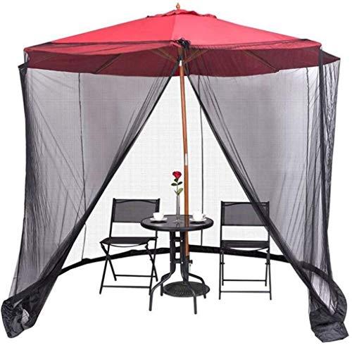 JNWEIYU Patio Umbrella Mosquito Net Outdoor Garden Mosquito Cover, with Zipper Mosquito Bug Insect Net Mesh Garden Polyester Netting