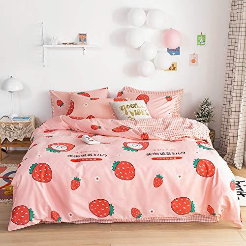 Kids Girls Strawberry Duvet Cover Sets Twin...