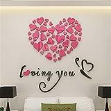 Pegatinas de pared,PAOLIAN Amor Impresión DIY Desmontable Vinilo Calcomanía Art Mural Pegatinas Pared Casa Habitación Decoración (Rosa)