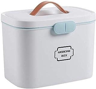 AINIYF Drug Box Storage Box Small Medicine Box Storage Box Multi-Layer First Aid Kit Medicine Storage Box Family Portable (Color : White)