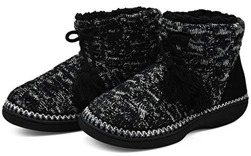 KuaiLu Zapatillas Casa Mujer Alta Densidad Memory Foam Pantuflas Cálida Invierno Interior Forro de Felpa Cerradas Cómodo Antideslizante Botas