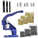 Hand Press Grommet Machine Kits with 3...