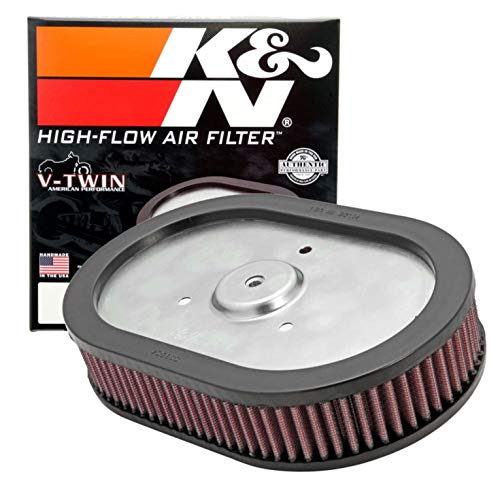 K&N Engine Air Filter: High Performance, Premium, Powersport Air Filter: 2009-2017 HARLEY DAVIDSON (Fat Bob, Dyna Low Rider, Wide Glide, Switchback, CVO Limited, and other select models) HD-0910, Black