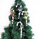 Amhomely - Colgante de bastón de Navidad, 21 cm, color caramelo, 4 paquetes de decoraciones de Navidad, decoración navideña, decoración de Navidad, regalo para niños o adultos