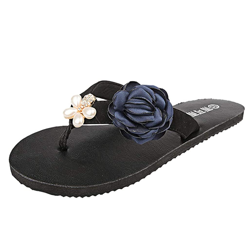 Summer Flip Flops, Fashion Women Sandals Non-Slip Casual Sandals Flat Beach Slippers Shoes