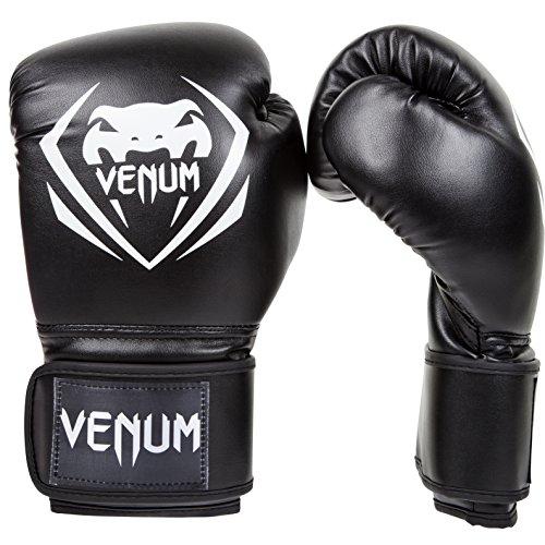 Venum Contender Boxing Gloves - Black/White - 16-Ounce