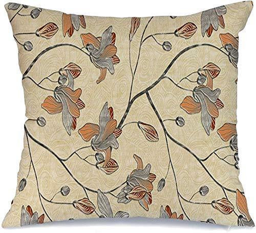 Funda de cojín Novia Mosaico Estampado Mármol Sari Pared Piso Cocina Baño Azulejo de algodón Camisa vintage Texturas de cerámica Funda de Cojine 45 X 45CM