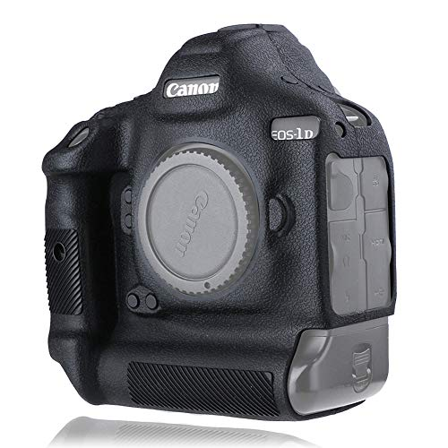 Easy Hood Camera Case for Canon EOS-1D X Mark III/Mark II/EOS-1D X, Texture Surface, Anti-Scratch Silicone Rubber Protective Camera Cover Protector Skin for Canon EOS 1DX Mark II Mark III (Black)