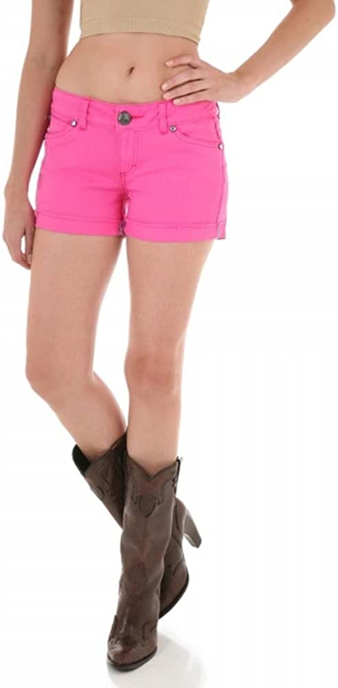 Wrangler Womens Booty Up Pink Shorts Size 3/4