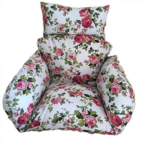XGXQBS Hangend ei-schommel-stoelkussen, zitkussen voor binnenpatio achtertuin in buitenshuis comfortabel ontspannen met kussen G