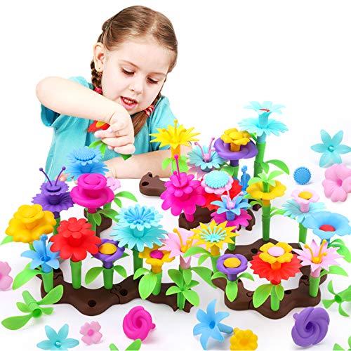 GILOBABY Mädchen Spielzeug, Kinder Blumenarrangement Spielzeug für Draußen,DIY Bouquet...