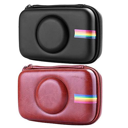 Polaroid Kamera Tasche,PU Leder Tasche Eva Hard Case für Polaroid Snap Touch-Sofortbildkamera(Schwarz Braun)2Pcs