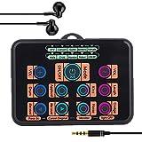 LIANGLEY Consola mezcladora Portátil Canales Digital Mezclador Audio Nido Efectos Máquina de Efectos de Sonido con función de Ajuste de Voz y luz de respiración, Adecuada para PS4 / Xbox/iPad
