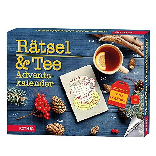 ROTH Rätsel + Bio Tee-Adventskalender 2021 gefüllt mit hochwertigem Bio-Tee und Rätseln - Teebeutel-Kalender für die Vorweihnachtszeit