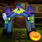 Joiedomi Halloween Inflatable 9 Feet Tall Haunted House Archway Inflatable Yard Decoration with Build-in LEDs Blow Up Inflatables for Halloween Party Indoor, Outdoor, Yard, Garden, Lawn Decorations