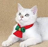 Lanlan Ting De noël Collier de Chien Chat Nœud Papillon en Tricot de Laine Accessoires de Costumes de Noël