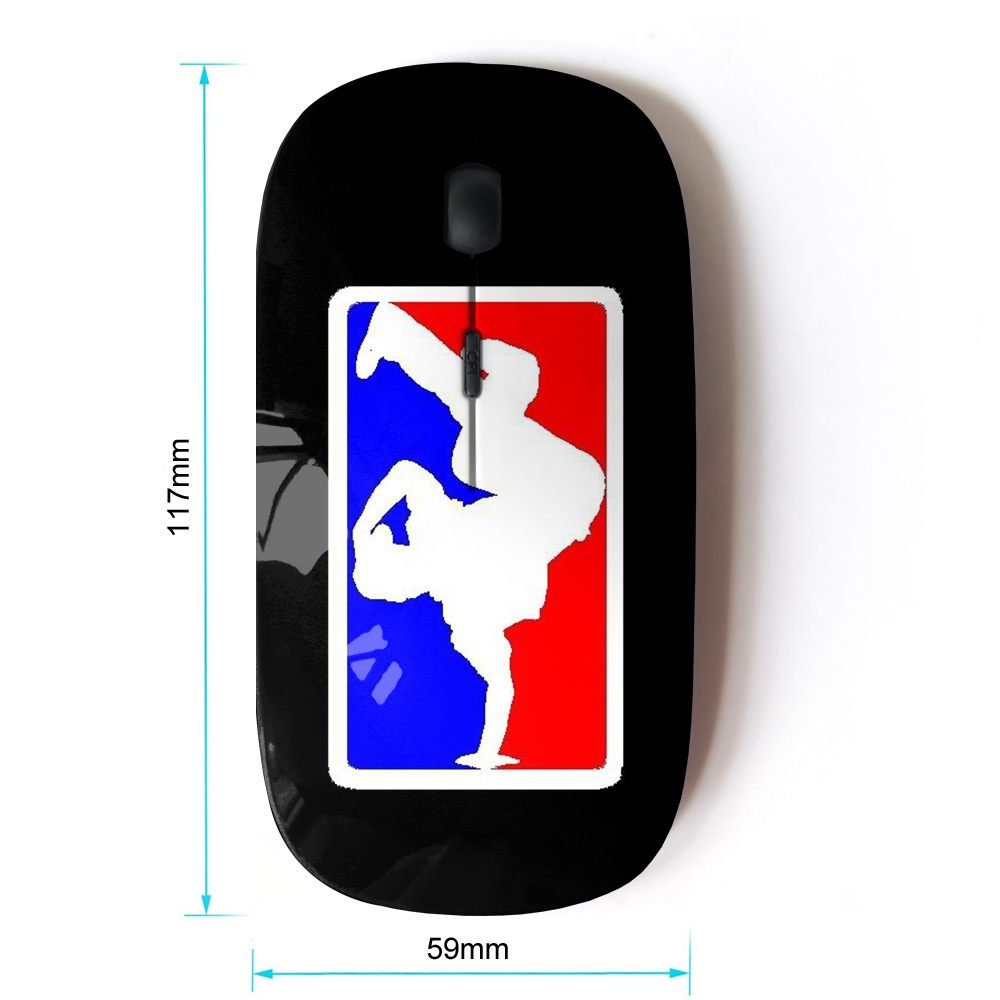 STPlus Breakdance B-Boy Hip-Hop Dance Graffiti 2.4 GHz Wireless Mouse with Ergonomic Design and Nano Receiver