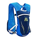 AONIJIE Hydration Backpack Vest, 5.5L Capacity, Multi-Pocket Design, Breathable and Lightweight, Pack for Outdoor Sports - Running, Cycling, Climbing and Hiking, Only Vest, Blue