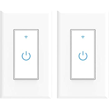Novostella Smart Light Switch Wi Fi Wall Switch With Remote Control Timing Function No Hub Required Compatible With Alexa And Google Home Etl Listed 15a 2 Pack Amazon Com