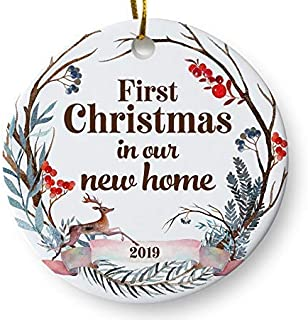 First Christmas in Our New Home 2019 Christmas Ornament, Whimsical Woodland Ornament, Housewarming Gift, Homeowner Present, 3