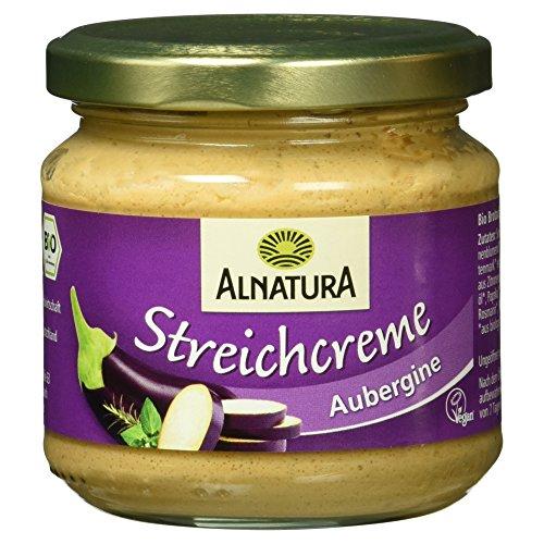 Alnatura Bio Streichcreme Aubergine, vegan, 6er Pack (6 x 180 g)