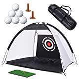 XCSOURCE Kids Golf Net Golf Training Aids Practice Net with Target Bundles for Backyard Swing Hitting Chipping,with Grass Mat, Golf Tees,6Pcs Golf Balls and Carry Case Indoor Outdoor Sports