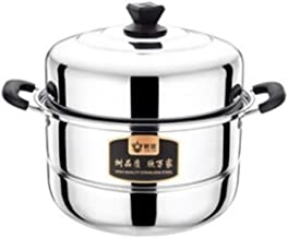 MSWL Steamer, Two-layer Extra Thick Steamer, Stainless Steel Thickened Two Layers, 304 Household 26/28/30cm Soup Pot, Doub...