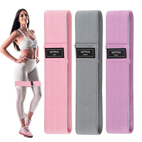 Elastici Fitness (Set di 3), Bande di Resistenza Fitness con 3 Livelli di Resistenza, Colorate Fasce Elastiche Fitness per Crossfit, Esercizi Glutei, Yoga, Pilates, Squats, Lunges, Palestra