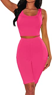 Freeby Women's Summer Solid Sexy Sleeveless Bohemia Set Top+Half Pants Two Pieces Casual Suits