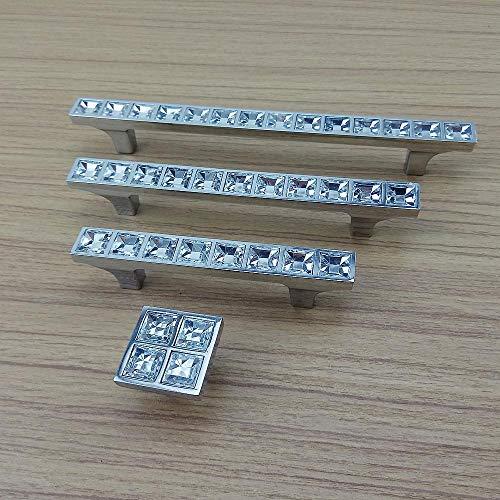 Deurklinken 1 stuk Crystal Diamond Pull handgrepen Meubelhardware deur lade kast pull knop handgrepen accessoires 64 mm.