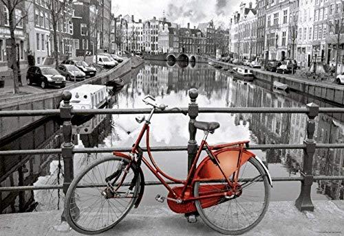 WXLSL Puzzles Rompecabezas Amsterdam 1000 Piezas Mini Rompecabezas para Adultos Bosque Planta Animal Paisaje Océano Descompresión Juego
