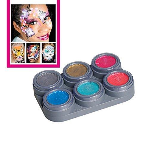 GRIMAS Pearl Water Make up Theaterschminke Kinderschminke Palette Schminkanleitungen