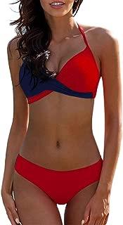 Qiyun Badeanzug Schwimmausrüstung Women Sexy Matching Color Split Bikini Set