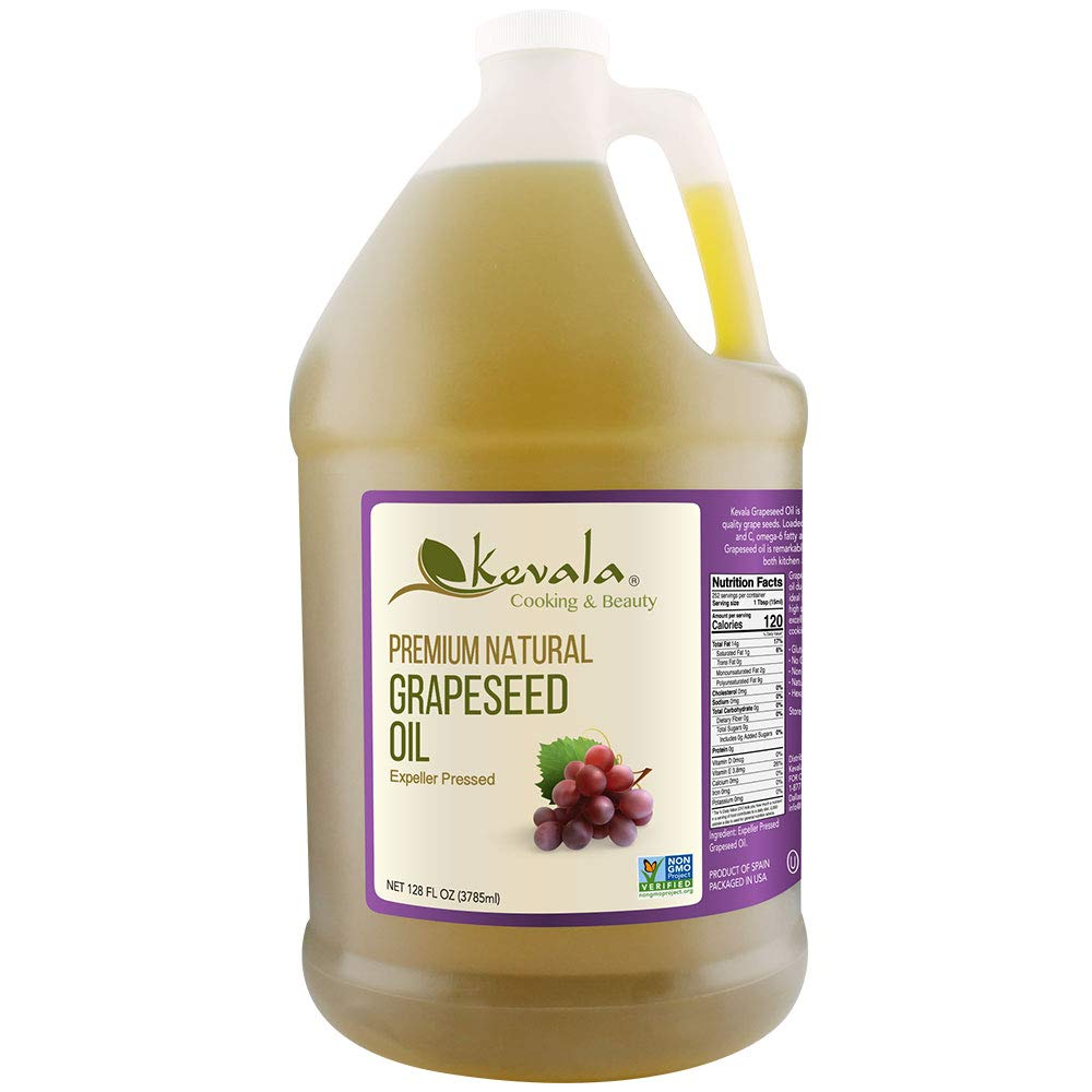 Kevala Grapeseed Oil, 1 Gallon, Premium Natural, Expeller Pressed