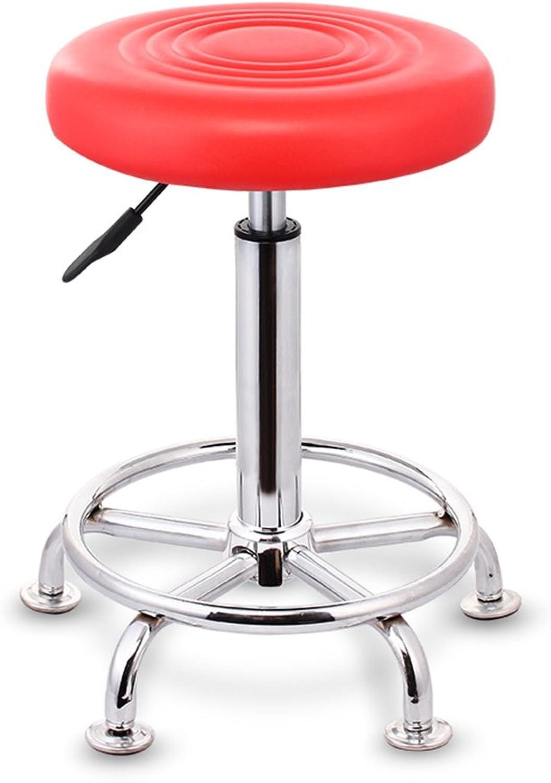 Yan Fei Bar Stool,Lift Bar Chair Beauty Chair redary High Chair Round Bar Bench Barber Stool Boss Stool 34(43-58) cm Comfortable Stools (color   B)