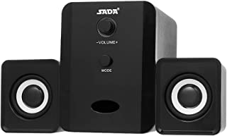 Docooler D-201 USB Wired Bluetooth Speaker Set Computer Speakers Bass Music Player Subwoofer Sound Box for Desktop Laptop Tablet PC Smart Phone