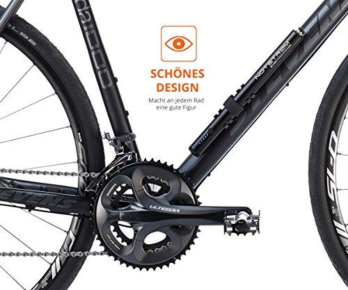 ZNEX NOTSTRØM™ | Wasserdichte IP67 Power Bank mit Rahmenhalter fürs Fahrrad, Rennrad, MTB, Trekkingrad zum Laden von iPhone Handy GPS GoPro USB Bike Lampe | 10000mAh/2.4A - 3