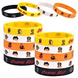 Cobro Kap Party Favor Karate Action Game Rubber Bracelet Kit Silicone Bracelet for Kids Teens Adult Wristband Birthday Gift Filler Karate Theme Party Supplies