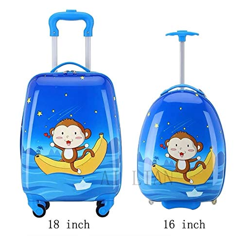 Mdsfe kids travel suitcase on wheels Cartoon rolling luggage Cute boy girls carry on cabin suitcase trolley luggage bag child gift HOT - 17,18'