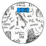 Escala digital de peso corporal de precisión Ronda Fiesta toga Báscula de...