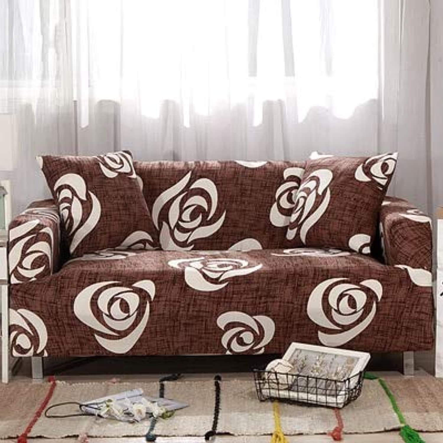 PlenTree Leaves Pattern Sofa Covers Elastic Stretch Universal Sectional Throw Couch Corner Cover Cases for Furniture Armchairs Home Deco  2, Single seat Sofa