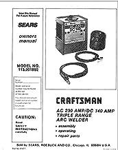 Craftsman 196.205690 Mig Welder Owners Instruction Manual