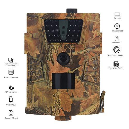 BESTSUGER Wildlife Trail Kamera, 1080P HD Überwachungskamera, Infrarot-Wärmebild-Nachtsichtkamera IP54 wasserdicht