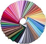 50 Stück mehrfarbige Stoffe, Patchwork-Baumwolle,