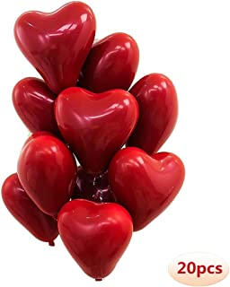 10 inch Heart Latex Balloon Ruby Red Balloon Valentine Day Wedding Party Decoration 20 Pcs/Pack